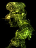 Green smoke detail — Stock Photo
