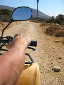 Quad driving in Naxos — Stock Photo