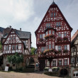 Traditional houses Miltenberg - Stock Photo