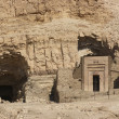 Stock Photo: Rock cut tombs near Mortuary Temple of Hatshepsut