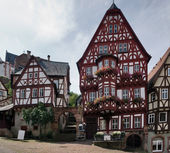 Traditional houses Miltenberg — Stock Photo