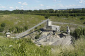 Gravel manufacturing plant — Stock Photo