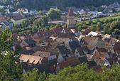 Wertheim aerial view in sunny ambiance — Stock Photo