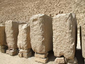 Pyramid of Cheops and stones — Stock Photo