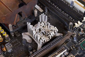 Molten heat sink — Stock Photo