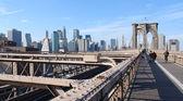 At Brooklyn Bridge in New York — Stock Photo
