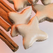 Cinnamon stars and sticks — Stock Photo