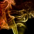 Multicolored smoke detail - Stock Photo