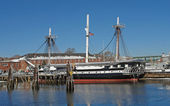 USS Constitution sailing ship — Stock Photo