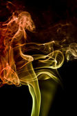 Multicolored smoke detail — Stock Photo