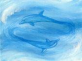 Två delfiner — Stockfoto