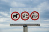 Prohibitions on the beach — Stock Photo