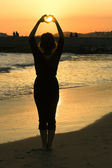 Backlit silhouette — Stock Photo