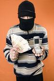 Phone thief — Stock Photo