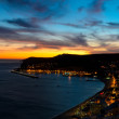 Stock Photo: Sunset in Sesimbra, Portugal