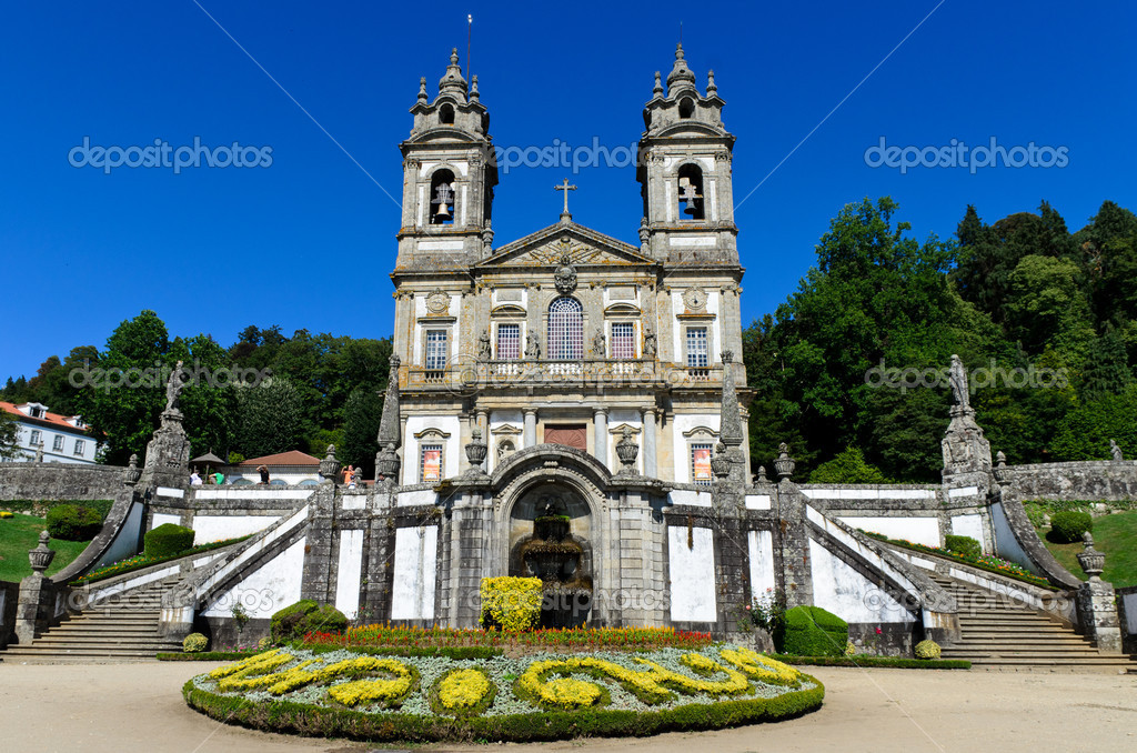 Portuguese sanctuary Bom Jesus do Monte (Good Jesus of the Mount) in Braga, Portugal  Stock Photo #6934566