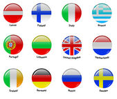 European flages - part 1 — Stock Vector