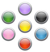Colored glossy icons — Stock Vector