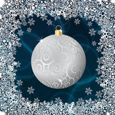 Silver christmas ball — Stock Vector