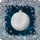 Silver christmas ball — Stock Vector