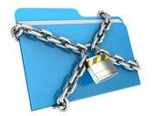 Concetto di sicurezza dati computer — Foto Stock