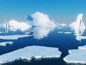 Ijsbergen — Stockfoto