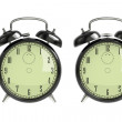 Foto Stock: Set of black alarm clock