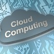 Foto de Stock  : Cloud computing chip