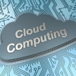 Stock Photo: Cloud computing chip