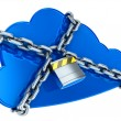 Foto Stock: Secure cloud computing