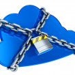Stock Photo: Secure cloud computing