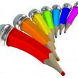 matite colorate. cartone animato 3d — Foto Stock