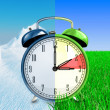 Stock Photo: Daylight saving time concept