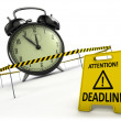 Stock Photo: Deadline concept