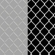 Shiny wire chain link fence — 图库照片