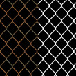 Rusty wire chain link fence — Foto de Stock