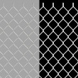 Shiny wire chain link fence — Stock Photo