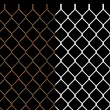 Rusty wire chain link fence — Foto Stock