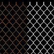 Rusty wire chain link fence — Foto Stock #6943591
