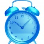 Glass alarm clock — Stock Photo