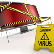 anti virus koncept — Stockfoto