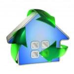 生态循环房子 — 图库照片