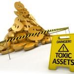 koncepcja toksyczne aktywa — Zdjęcie stockowe