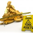 Toxic assets concept — Stock Photo