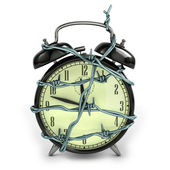 Barbedwire alarm clock — Stock Photo