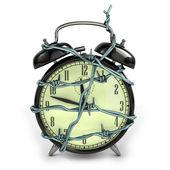 Barbedwire alarm clock — Stock Photo