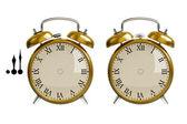 Conjunto de ouro relógio despertador — Foto Stock
