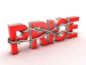 Price with barbed wire — Stock Photo