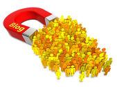 Blog láká — Stock fotografie
