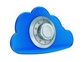 Zabezpieczyć cloud computing — Zdjęcie stockowe